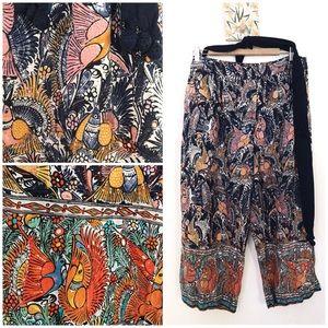 Anthropologie Mermaid Brand Batik Bird Lounge Pant